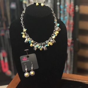 Turquoise yellow and silver